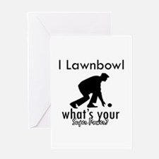 I Lawnbowl Greeting Card