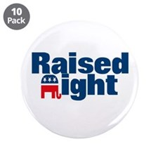 "Raised Right 3.5"" Button (10 pack)"