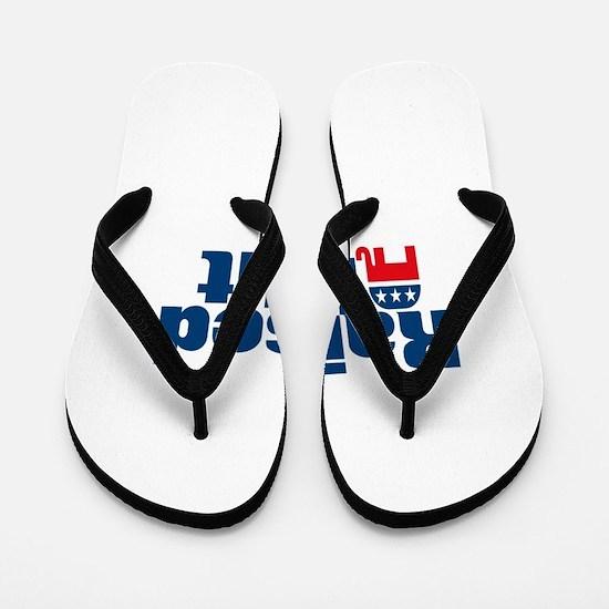 Raised Right Flip Flops