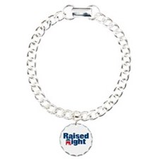 Raised Right Charm Bracelet, One Charm