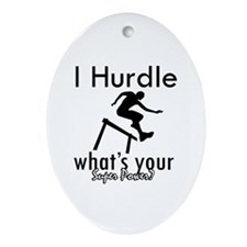 I Hurdle Ornament (Oval)