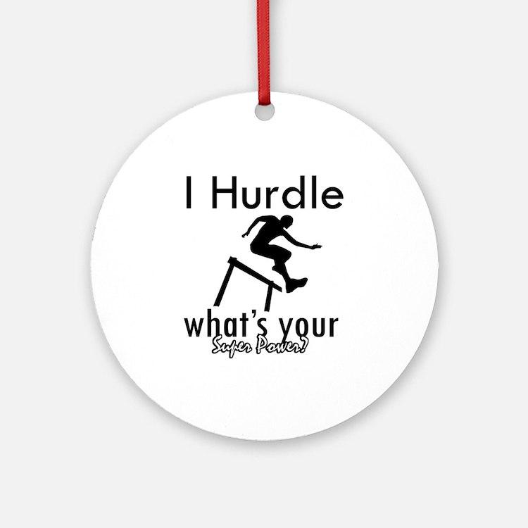 I Hurdle Ornament (Round)
