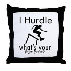 I Hurdle Throw Pillow