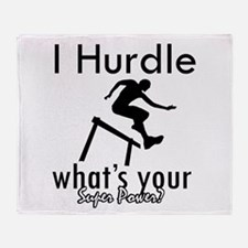 I Hurdle Throw Blanket