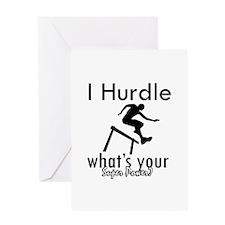 I Hurdle Greeting Card