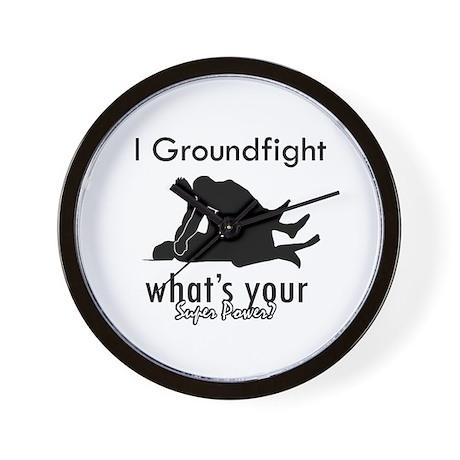 I Groundfight Wall Clock