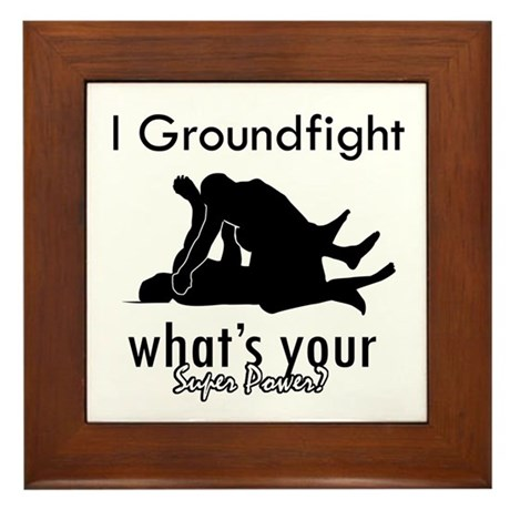I Groundfight Framed Tile