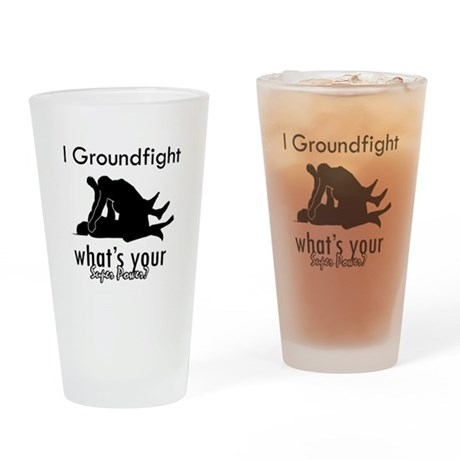 I Groundfight Drinking Glass