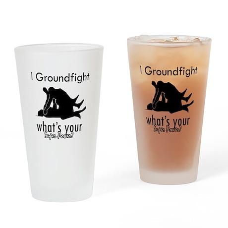 I Groundfight Drinking Glass