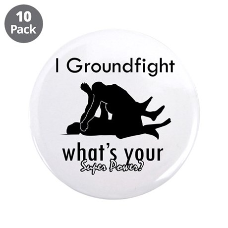 "I Groundfight 3.5"" Button (10 pack)"