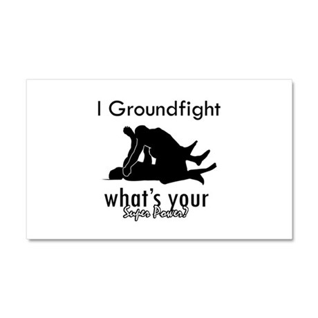 I Groundfight Car Magnet 20 x 12