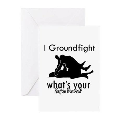 I Groundfight Greeting Cards (Pk of 20)