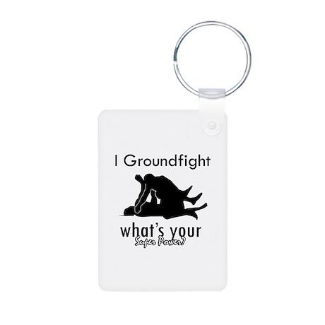 I Groundfight Aluminum Photo Keychain