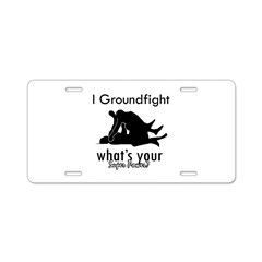 I Groundfight Aluminum License Plate