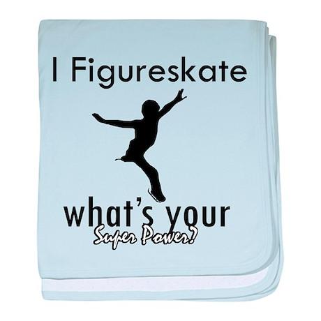 I Figure Skate baby blanket