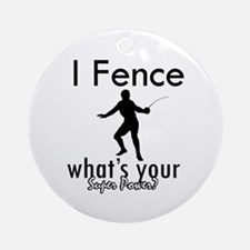 I Fence Ornament (Round)