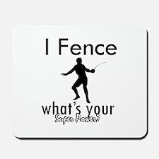 I Fence Mousepad