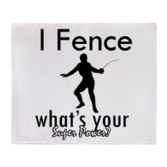 I Fence Throw Blanket