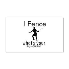 I Fence Car Magnet 20 x 12