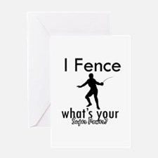 I Fence Greeting Card