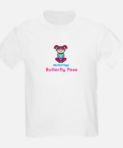 Kids Yoga Butterfly Pose T-Shirt