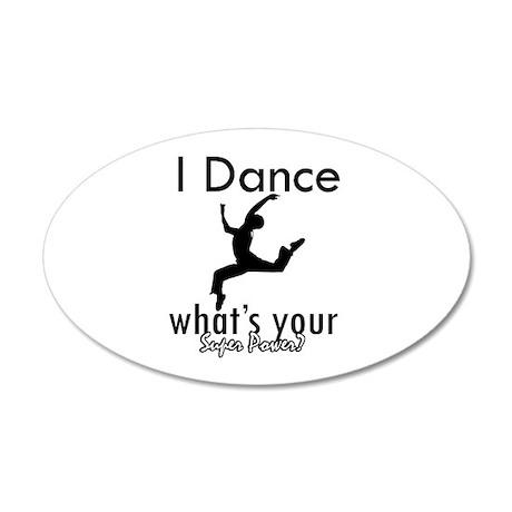 I Dance 38.5 x 24.5 Oval Wall Peel