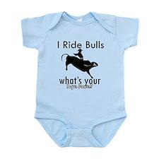 I Ride Bulls Infant Bodysuit