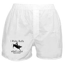 I Ride Bulls Boxer Shorts