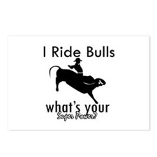 I Ride Bulls Postcards (Package of 8)