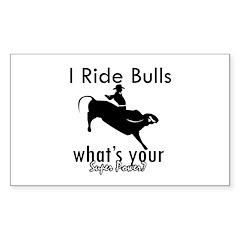I Ride Bulls Decal