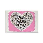 MY MOM ROCKS Rectangle Magnet