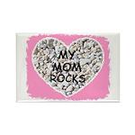 MY MOM ROCKS Rectangle Magnet (10 pack)
