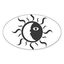 Yin Yang Sun Oval Decal