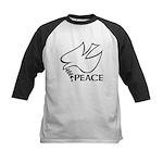 Peace Dove Kids Baseball Jersey