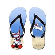 KiniArt Snorkel Westies Flip Flops