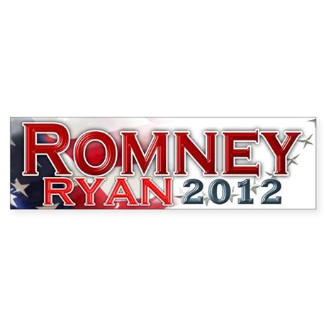 Romney Ryan 2012: Sticker (Bumper)