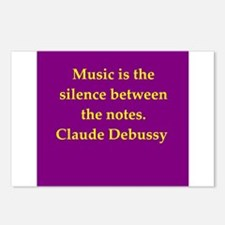 Claude Debussy quotes Postcards (Package of 8)