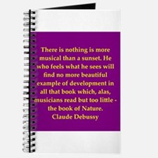 Claude Debussy quotes Journal