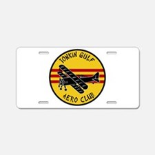 Tonkin Gulf Aero Club Aluminum License Plate