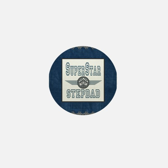 Superstar Stepdad Mini Button