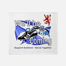 Tartan Army Boys Scotland Throw Blanket