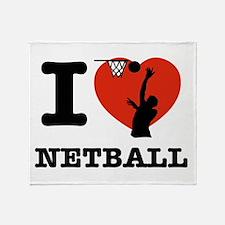 I love Netball Throw Blanket