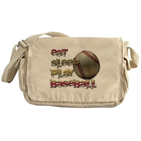 Eat sleep baseball Messenger Bag