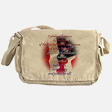 Pledge of allegiance Messenger Bag