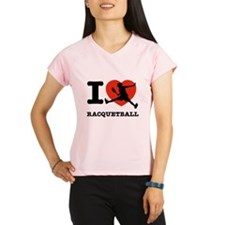 I love Racquetball Performance Dry T-Shirt