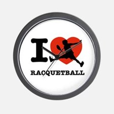 I love Racquetball Wall Clock