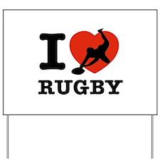 I love Rugby Yard Sign