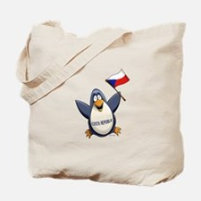 Czech Republic Penguin Tote Bag