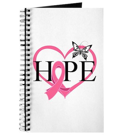 Breast Cancer Heart Decor Journal