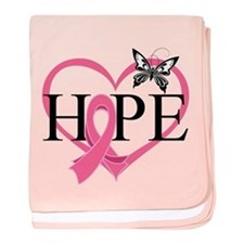 Breast Cancer Heart Decor baby blanket